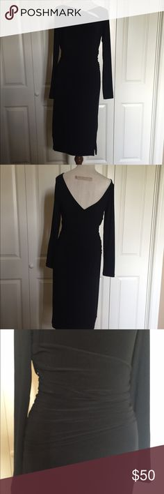 White House Black Market Instantly Slimming Dress Never worn.  Just found in closet.  No tags. Instantly slimming, side zip, low back, 98% polyester, 2% spandex.  Very cute. White House Black Market Dresses