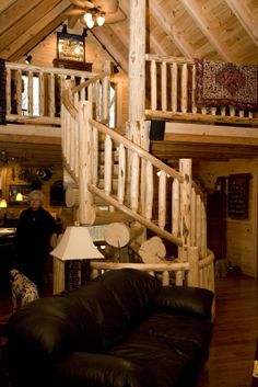 Log Home Staircases On Pinterest Railings Spiral