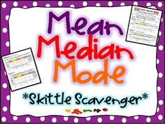 Mean, Median, Mode, and Range Activity - I love to use food for math!!