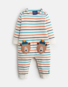 Fife Multi Stripe Bear Long Sleeve Babygrow | Joules US Joules Kids, Joules Uk, Baby Grows, Color Stripes, Baby Development, Kids Prints, Baby Boy Outfits, Kids Outfits, Baby Essentials