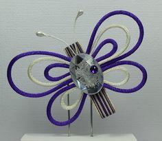 Satin Cord Butterfly Hair Clips by ThreeLittleHams  $7.50