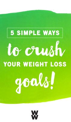 This new year is all about you! So, whether you've decided to eat well, stay healthy, or improve your fitness, these 5 Simple Ways to Crush your Weight Loss Goals can bring you one step closer to living the life you've dreamed of. Plus, thanks to Weight Watchers snacks and Target, it couldn't be easier to make smart food choices.