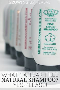 What? A Tear-Free Natural Shampoo? Yes Please! | Growing Up Herbal | Are you looking for a tear-free natural shampoo for your kids? Today I'm sharing a funny story that involves guinea pigs, tears, and what I found that finally works for us.