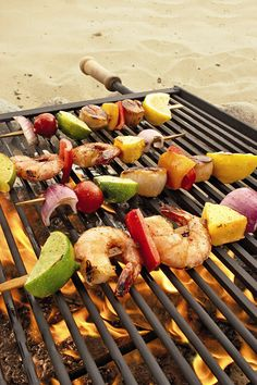 Kabobs -- with shrimp or beef since wendy love doesn't like chicken :P