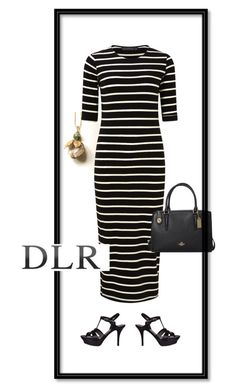 """DLRboutique.com"" by jillsjoyagol ❤ liked on Polyvore featuring Sugarhill Boutique, Yves Saint Laurent and Coach"