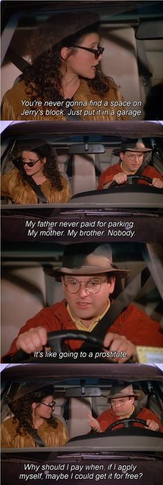 Seinfeld quote - George & Elaine, 'The Parking Space'