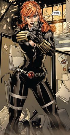 Black Widow from The Marvel Comic Universe and The Avengers. Schwarze Witwe aus dem Marvel-Comic-Universum und The Avengers. Marvel Comics, Archie Comics, Marvel Avengers, Marvel Fanart, Marvel Comic Universe, Bd Comics, Marvel Women, Marvel Girls, Comics Universe