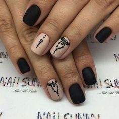 Opting for bright colours or intricate nail art isn't a must anymore. This year, nude nail designs are becoming a trend. Here are some nude nail designs. Nail Polish Designs, Nail Art Designs, Short Nails, Long Nails, Nagel Hacks, Neutral Nails, Square Nails, Black Nails, Matte Black