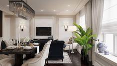 Riverside - apartment in classic style on Behance Luxury Decor, Luxury Interior Design, Interior Architecture, Classic Interior, Best Interior, Home Stairs Design, House Design, Riverside Apartment, Dream Apartment