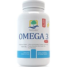 Omega 3 Pro  Joint Brain Heart Support  Triple Strength EPA DHA Fish Oil 800mg 600mg Pharmaceutical Grade Capsules Odorless  Burpless Pills 60 Count -- Be sure to check out this awesome product.