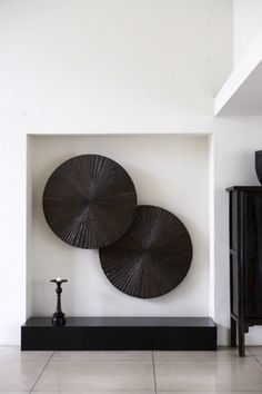 | P | Modern Art with Antique Japanese Tansu Chest / Thomas Schonnemann Photography http://schonnemann.dk/interior.asp