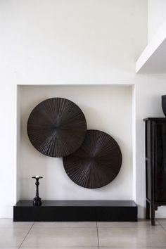 | P | Modern Art with Antique Japanese Tansu Chest / Thomas Schonnemann Photography http://schonnemann.dk/interior.asp