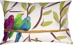 Flocked Together Small Bird Pillow