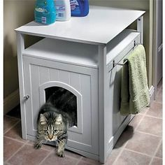 Cat Washroom - Best thing ever if you live in small house or apartment. I  Litter  Box ...