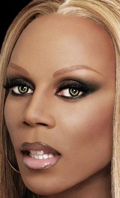 RuPaul's makeup always looks flawless. I know this is probably photoshopped, but you can still see the brilliant contouring.