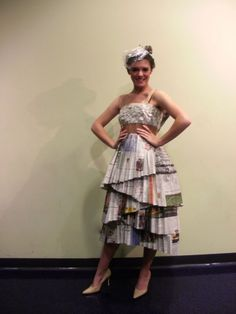 Repurposed Newspaper Dress