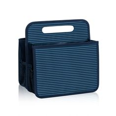 Double Duty Caddy in Sailor Stripe for $25 - This handy caddy works for craft, mail, car or cleaning storage solutions. It�s a great diaper caddy, too. Pair it with pieces from the Your Way Collection to create a complete nursery solution. Via @thirtyonegifts