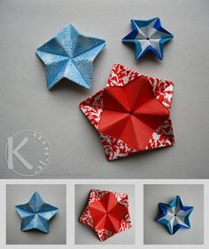 sepps stern by Kalami, via Flickr.  a good picture tute.  I'm not sure if i am right, but i think on the first time you do step seven you fold the first layer up, because you need the bottom layer for the last piece to connect to.