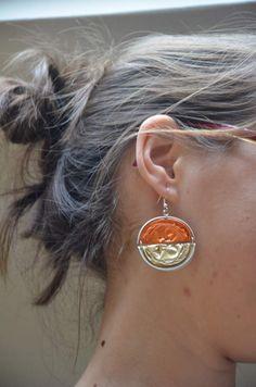 Boucles d'oreilles bicolore en Capsules Nespresso
