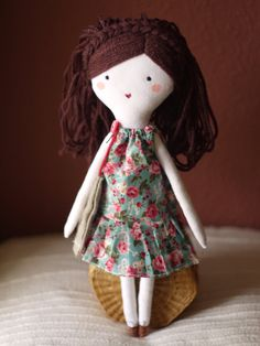 fabric doll rag doll cloth handmade dolls muñeca de trapo ploudoll personalized rag doll poupée puppen