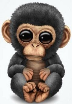 Monkey wallpaper by mirapav - 32 - Free on ZEDGE™ Cute Animal Drawings, Cute Animal Pictures, Cute Drawings, Monkey Art, Cute Monkey, Monkey Drawing Cute, Cute Baby Animals, Funny Animals, Monkey Wallpaper