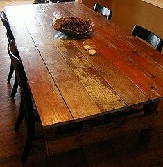 Dining table. Reclaimed barn wood. I want this table