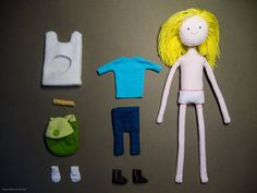 Textile Finn the Human (Adventure Time) by MegumiRe Adventure Time Crafts, Adventure Time Cartoon, Deviant Art, Marceline And Princess Bubblegum, Finn The Human, Phineas And Ferb, Diy Doll, Arts And Crafts, Diy And Crafts