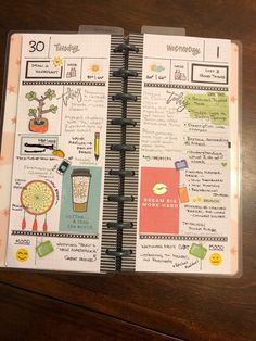 Planner Layout, Planner Pages, Planner Ideas, Hobonichi, Planner Organization, Filofax, Happy Planner, Planners, Bullet Journals