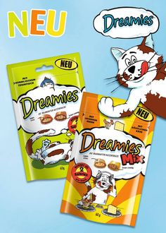 """Katzen lieben Geflügel. Liebhaber der schnurrenden Vierbeiner können daher sicher sein, dass ihre Tiere auf das neue Dreamies """"Mix mit Huhn & Käse"""" regelrecht """"fliegen"""" werden. Bild: Mars"""