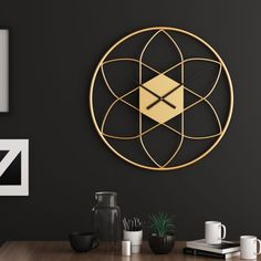 Modern Home Interior Design, Luxury Home Decor, Modern Clock, Mid-century Modern, Golden Decor, Clock Display, Luxury Lighting, Interior Accessories, Frames On Wall