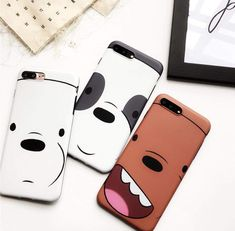 Credits to the Rightful owner Iphone 7 Phone Cases, Funny Phone Cases, Phone Cover, Bff, We Bare Bears Wallpapers, Pusheen Cat, Bear Decor, We Bear, Aesthetic Phone Case