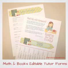 Editable Tutor Forms!  Yes!  Editable using Microsoft Word.  4 different styles available (more to come).  Get your business off to a professional start.  Come read more to see what's all included!