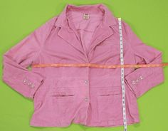Pink Corduroy Jacket Sz 22 24 W Orchid Womens Plus Stretch Cotton Casual Bling #FadedGlory #BasicCoat