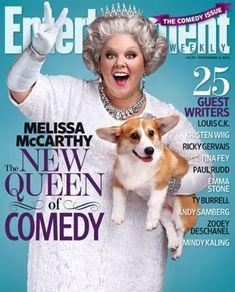 One more reason to love Melissa McCarthy. #corgi