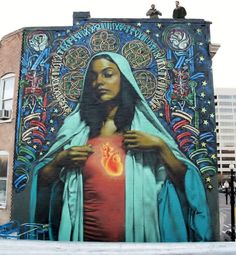 El Mac & Retna. No idea how this guy makes such realistic spray-paint murals