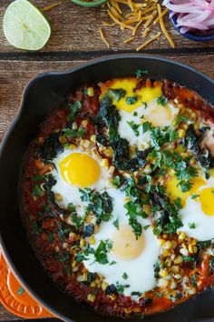 #Recipe: Quick and Easy Baked Huevos Rancheros