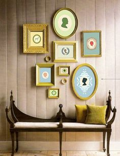 5 Unusual Ways to Use Picture Frames Leftover paint + thrift store frames = unified wall decor<br> Frames aren't just for displaying photos. Check out this 5 unusual ways to use picture frames without the pictures! Empty Picture Frames, Empty Frames, Frames On Wall, Painted Frames, Gold Frames, Framed Wall, Empty Wall, White Frames, Art Frames