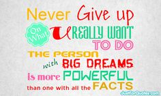 Never Give up come what may...