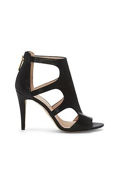 """LOUISE ET CIE's WINNIE $139.00 This tremendous style takes you up the style ladder with a zip-up back and sexy rounded cutouts on the side. Chiseled in textured or smooth leather, the Winnie is a fine, one-of-kind shoe. (3.75"""" heel)"""