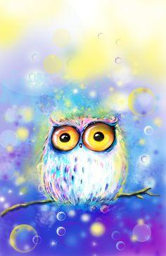 'Night Owl' by Main Cui Curuuuuuuuuuuuu curuuuuu FDaz a Coruja Owl Bird, Bird Art, Whimsical Owl, Pinturas Disney, Owl Pictures, Beautiful Owl, Wise Owl, Night Owl, Art Night
