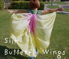 butterfly wings!! Who needs a super hero cape?