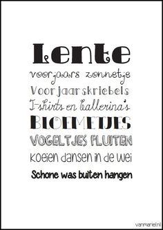 Lente - #Spring - #Frühling - Buy it at www.vanmariel.nl - Poster € 3,95 - Card € 1,25