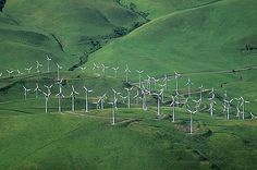 Airphoto - Aerial Photo of Wind Farm, Contra Costa County ...