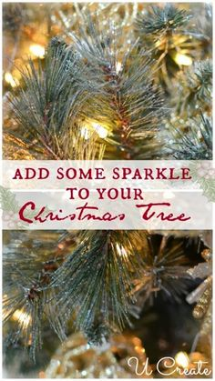 How to add sparkle to a Christmas Tree by @U CREATE #JustAddMichaels