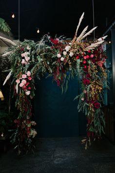 Deep tones of burgundy, mustard and blush. Boho Wedding, Floral Wedding, Fall Wedding, Wedding Colors, Wedding Flowers, Dream Wedding, Jewel Tone Wedding, Wedding Ceremony Arch, Burgundy Wedding