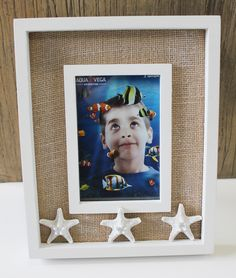 White Bumpy Starfish 4 x 6 Picture Frame - Nautical Frames & Albums - California Seashell Company