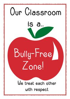 Bully-free+zone+poster+from+Little+Learners-+little+hands+and+feet,+big+potential!+on+TeachersNotebook.com+-++(1+page)+