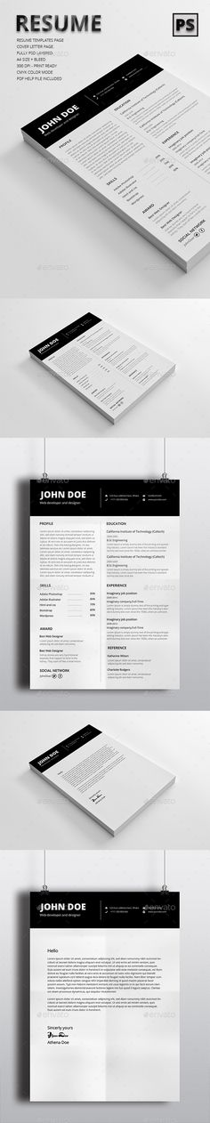 Experience - CV Resume PSD Template Psd templates - killer resume template