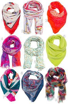 Happy scarves :)