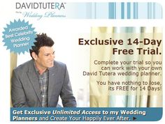 Need help planning your wedding? Have you checked out David Tutera's Wedding Planner? Best part is.. You Get a 14 Day Free Trial! Check it out here https://www.davidtuteraweddingplanners.com/free-14-day-trial-5-2.html